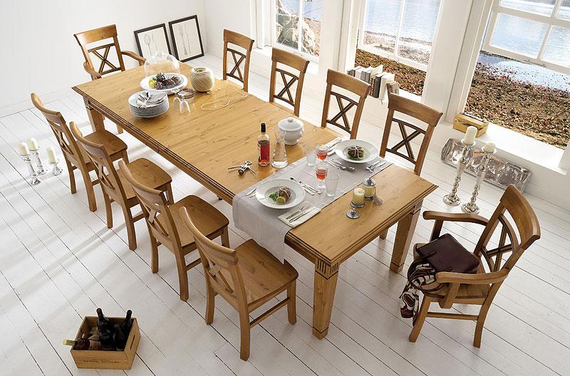 Kiefer Möbel Massiv Holz Esstisch Granitur Oberfläche: Patiniert