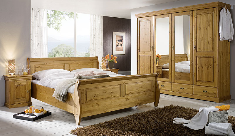 schlafzimmer aus massiver kiefer gefertigt verschiedene. Black Bedroom Furniture Sets. Home Design Ideas
