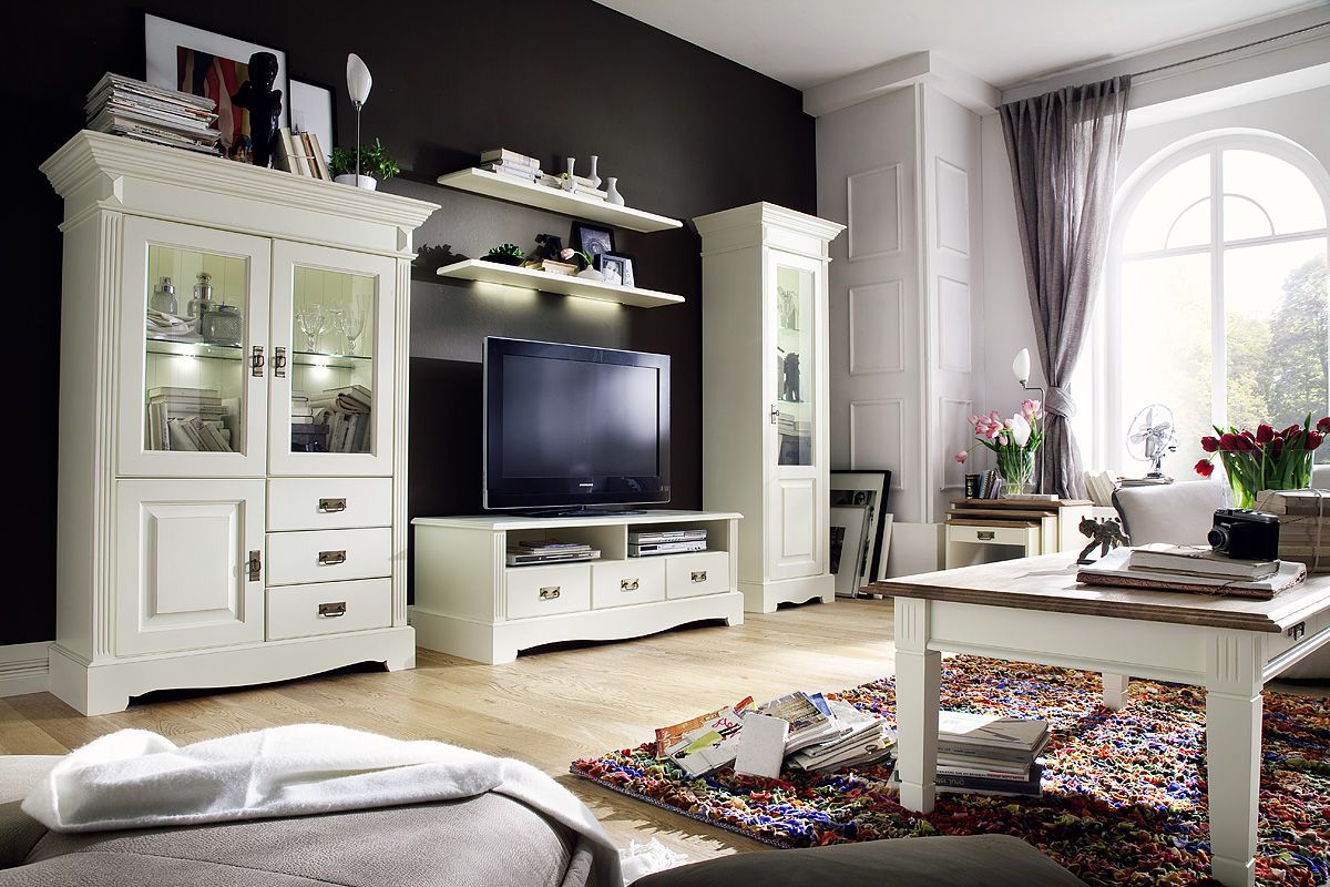 m bel landhausstil wohnzimmer neuesten. Black Bedroom Furniture Sets. Home Design Ideas