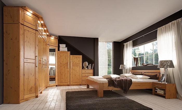 JOBO Designer-Schlafzimmer Kiefer massiv Holz