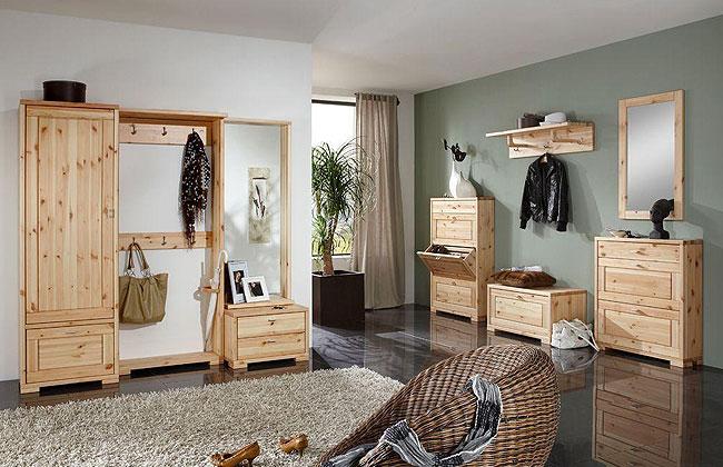 Kiefernmöbel Garderobe Dielenmöbel massiv Holz