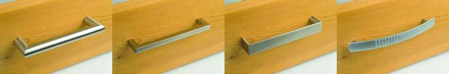 Metallgriffe zur Auswahl für die Massivholzmöbel von IversonInterior