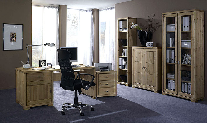 Massivholz Büromöbel Kiefer massiv - Oberfläche gelaugt und geölt