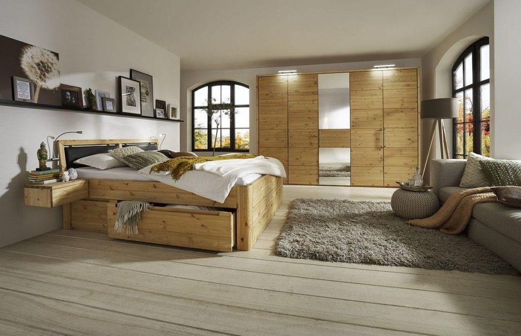 Bett mit Schubladen Echtholz Kiefer massiv - Kiefern Möbel ...