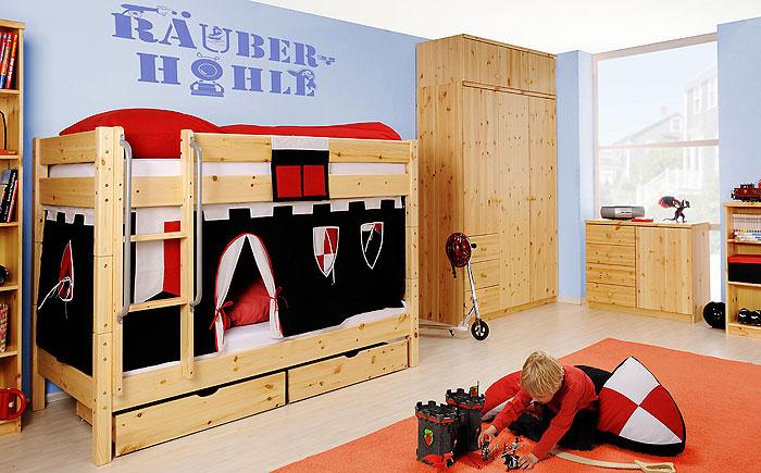 Kinderzimmermöbel Kiefer massiv Holz natur lackiert