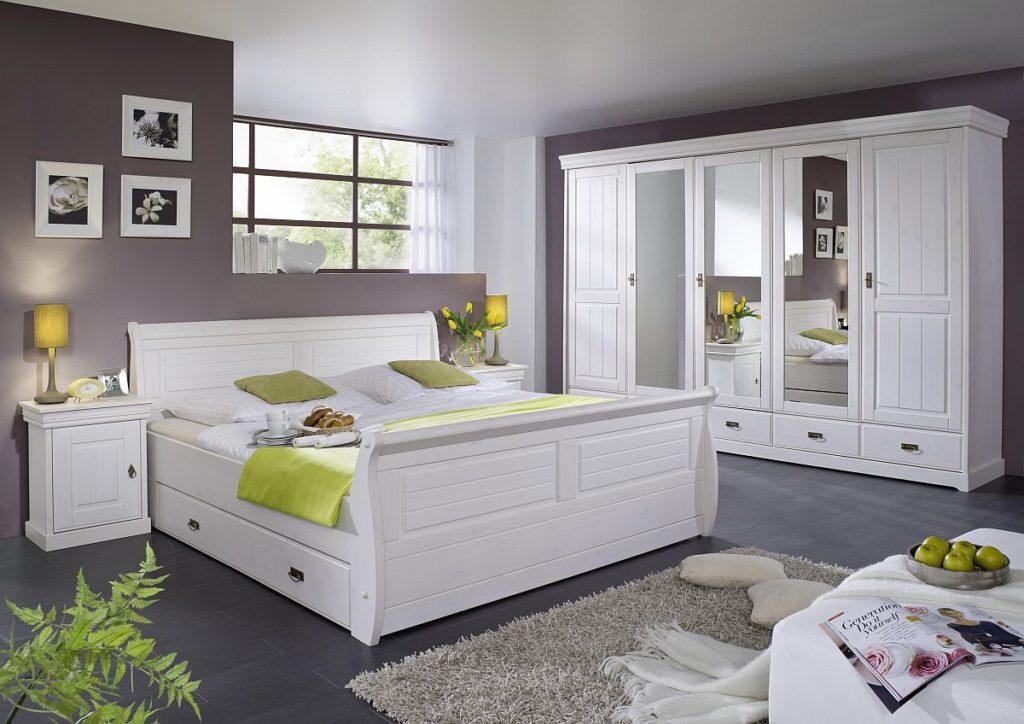 kiefer moebel schlafzimmer massiv weiss gewachst