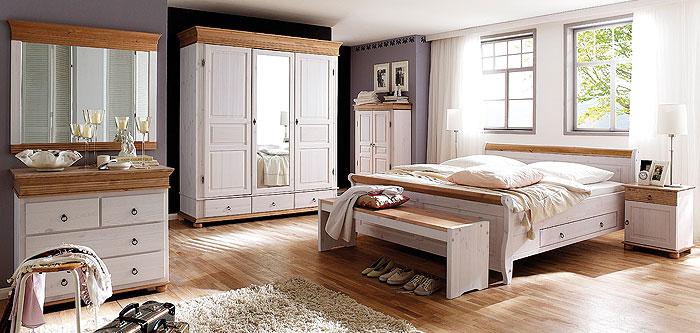 schlafzimmer aus massiver kiefer gefertigt verschiedene oberfl chen kiefern m bel fachh ndler. Black Bedroom Furniture Sets. Home Design Ideas