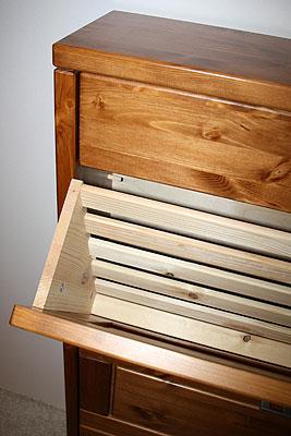 Schuhkommode honig - Kiefer massiv Holz