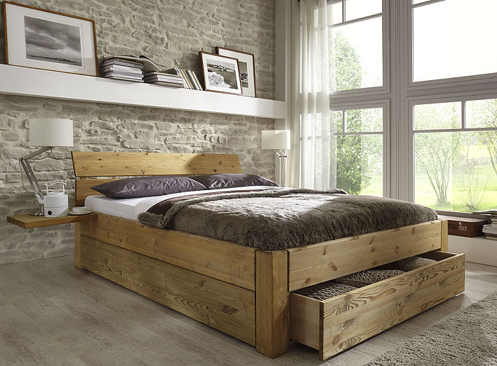 bett mit schubladen echtholz kiefer massiv kiefern m bel fachh ndler in goslar kiefern m bel. Black Bedroom Furniture Sets. Home Design Ideas