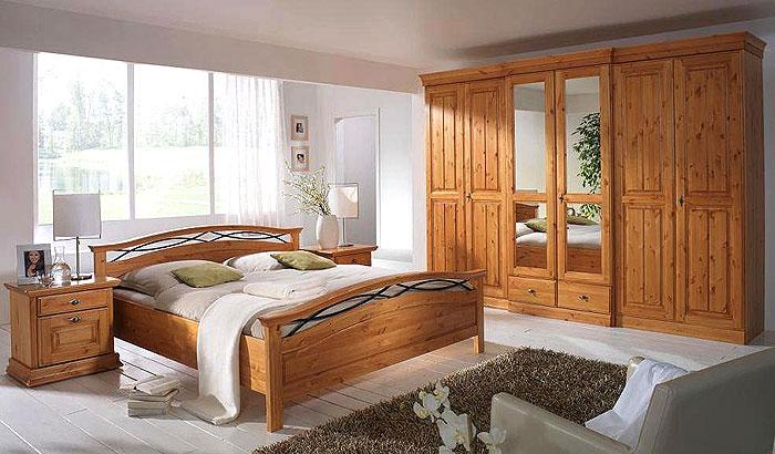 Schlafzimmer landhausstil kiefer  Schlafzimmer Malta Kiefer Massiv Weiss: Landhaus schlafzimmer ...