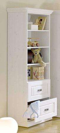 Regal für Kinderzimmer - weiss - Odette - Kiefer massiv Holz