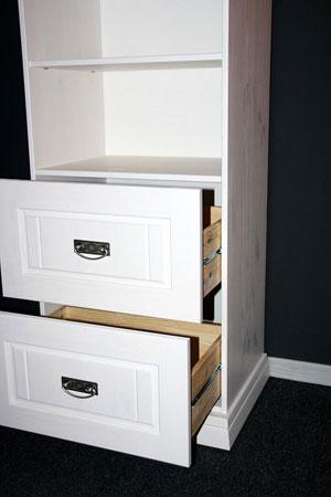 Kinderzimmerregal weiß - Odette - Kiefer massiv Holz
