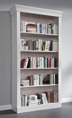 Bücherregal Bergen weiß lasiert Kiefer massiv