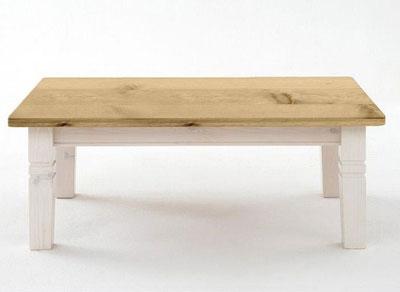 Couchgtisch Bergen Kiefer massiv Holz weiß gelaugt