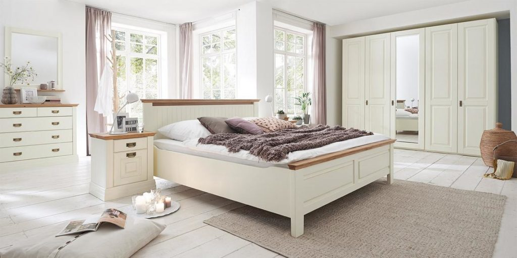 nordic dreans schlafzimmer kiefer weiss antik lackiert