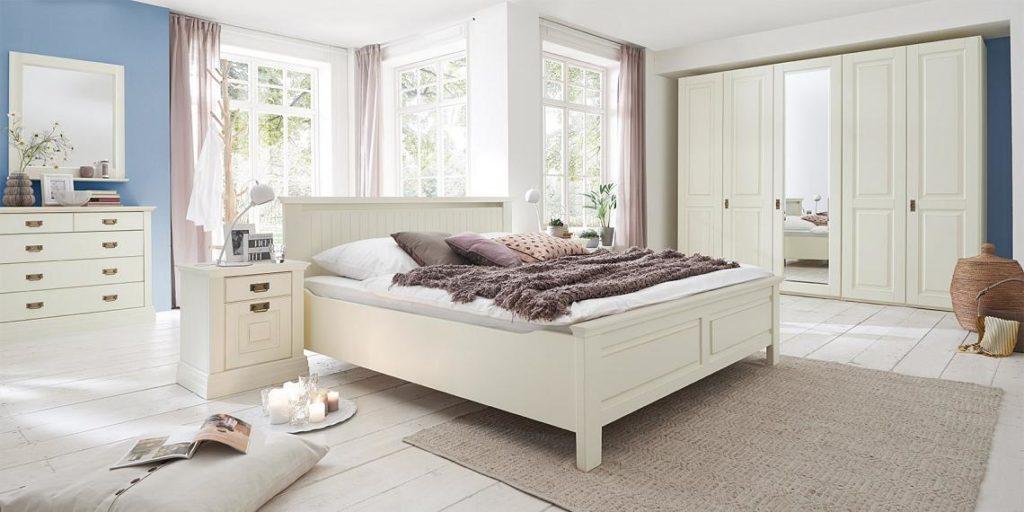 massivholz schlafzimmer kiefer antik weiss lackiert