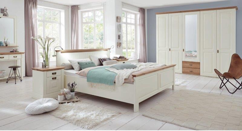 massivholz schlafzimmer creme antik nordic dreams