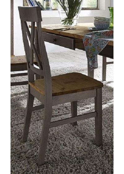 Stuhle Kiefer massiv Holz grau lasiert und gelaugt geölt abgesetzt