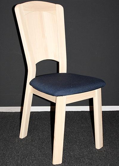 Stuhl Kiefer massiv Weiss lasiert mit Polster