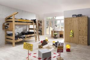 Kinderkleiderschrank Holz Moby