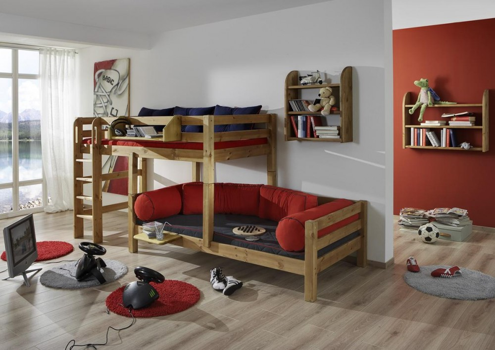 kinderzimmer massivholz. Black Bedroom Furniture Sets. Home Design Ideas