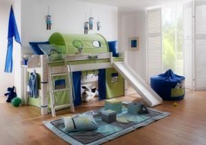Kinderbett halbhoch weiß