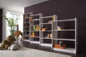 Bücherregale weiß Kiefer Dolphin