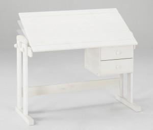 Schreibtisch höhenverstellbar weiß Kiefer Dolphin