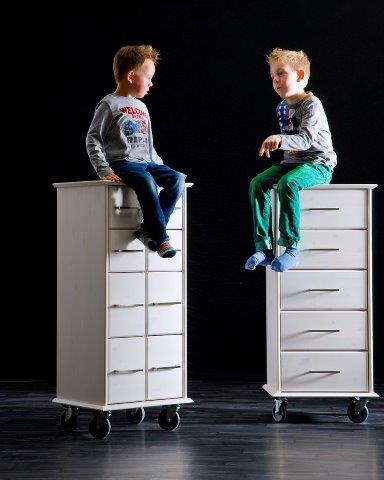 rollcontainer massivholz kiefer weiss lackiert ultima