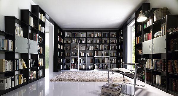 contra kiefer massivholz bibliothek schwarz