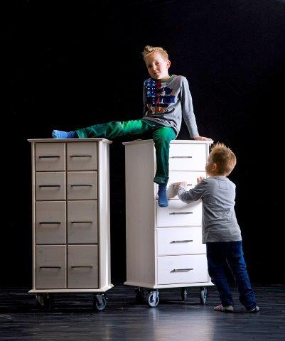 ultima kiefer massiv rollcontainer weiss lackiert