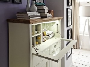 Highboard creme Holz