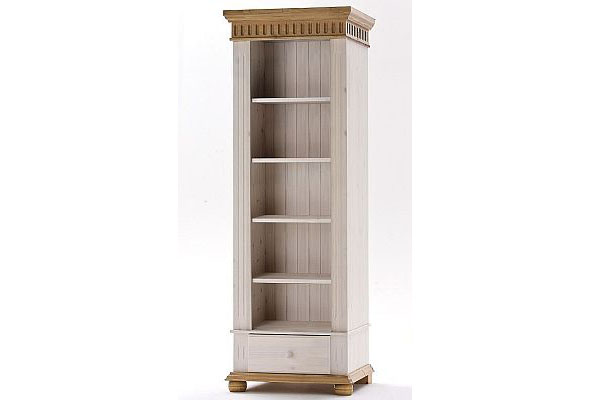 standregal kiefer massiv holz weiss antik masse b h t 69 x 199 x 43 cm